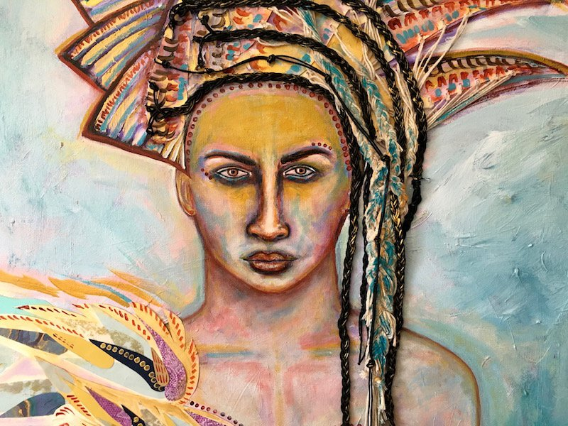 Athena, Mixed Media on Canvas | Sabrina Brett