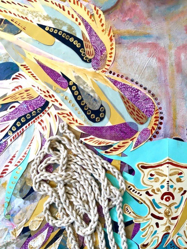 Athena, Mixed Media on Canvas | Sabrina Brett